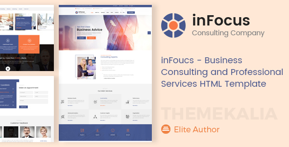 Image of inFocus - Business Consulting and Professional Services HTML Template