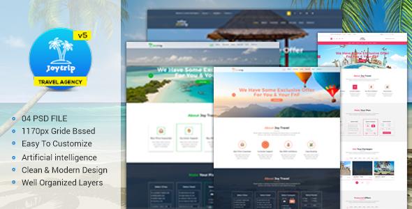 Travel Agency Website >> Joytrip Travel Agency Website Template