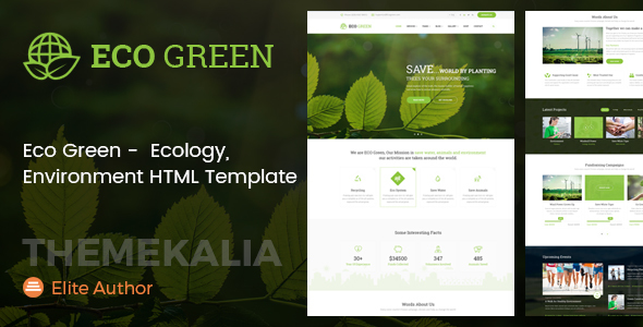 ThemeForest Eco Green HTML Template for Environment Ecology and Renewable Energy Company 21151032