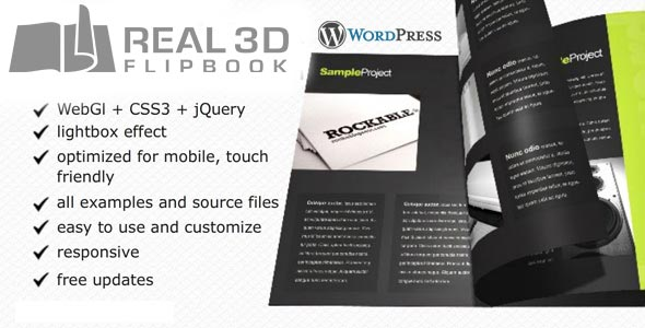 Real3D FlipBook WordPress Plugin - CodeCanyon Item for Sale
