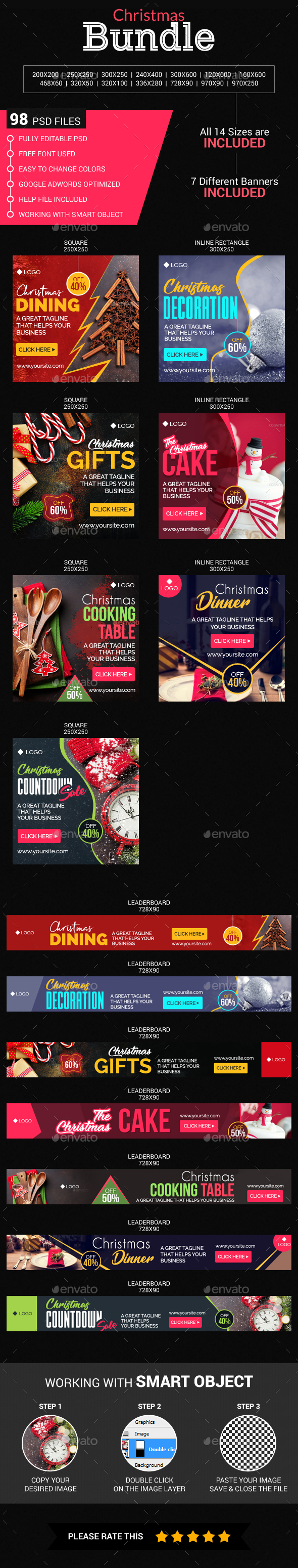 GraphicRiver Christmas banners bundle 21151175