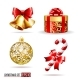 Bells, Gift Box, Candycane and Christmas Ball