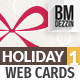Holiday Web Cards - GraphicRiver Item for Sale