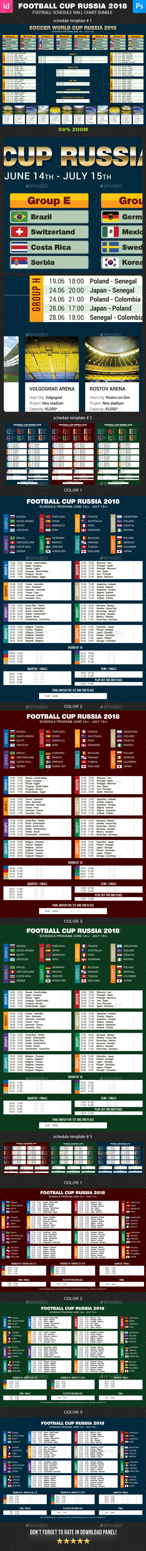 World Soccer Cup Russia 2018 Schedule Bundle - Sports Events
