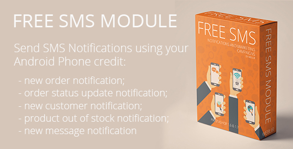 CodeCanyon Free SMS Notifications and SMS Marketing Campaigns using own network 21151428