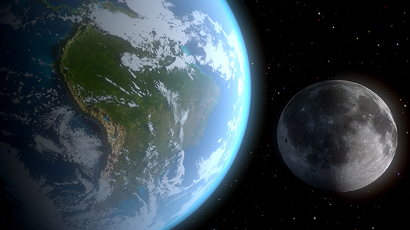 3DOcean Realistic Earth and the Moon 21151494