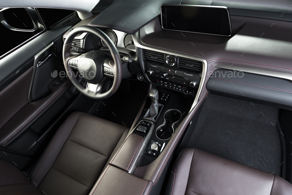 Car interior dashboard - Stock Photo - Images