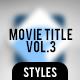 Movie Title Volume 3 - GraphicRiver Item for Sale