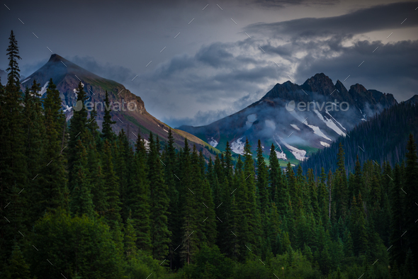 San Juan Mountains near Silver Jack reservoir - Stock Photo - Images