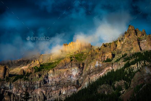Pinnacle ridge San Juan Mountains - Stock Photo - Images