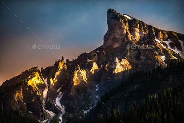 Precipice Peak at Sunset - Stock Photo - Images