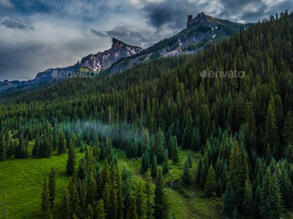 Precipice Peak and Dunsinane Mountain - Stock Photo - Images