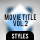 Movie Title Volume 2 - GraphicRiver Item for Sale