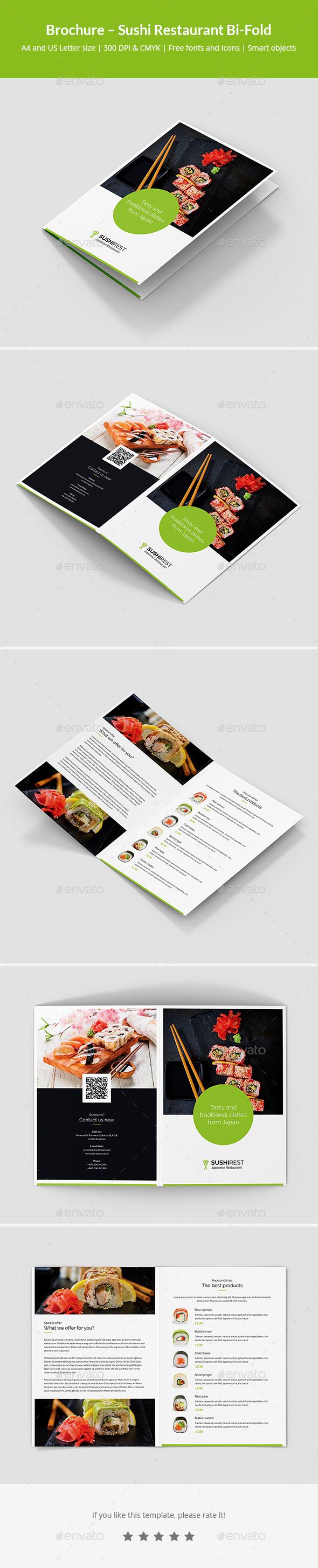 Brochure – Sushi Restaurant Bi-Fold - Informational Brochures