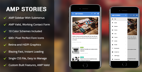 ThemeForest AMP Stories Mobile Google AMP Template 21151678