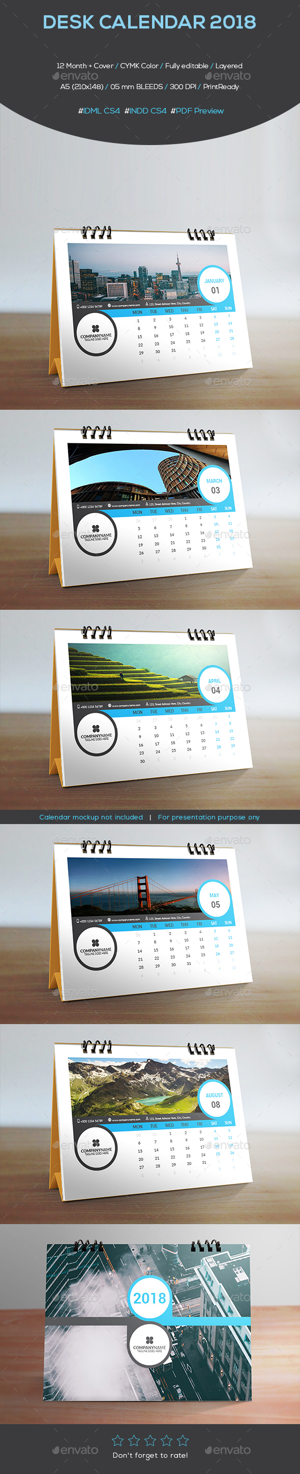 GraphicRiver Desk Calendar 2018 21151716