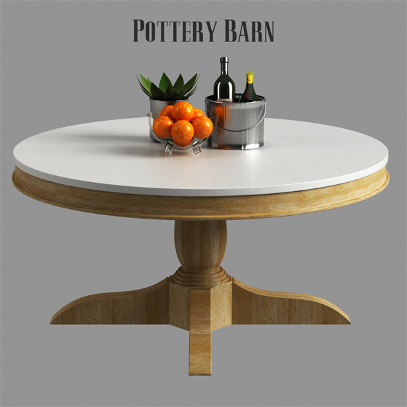 3DOcean Pottery barn Alexandra Coffee Table 21151730