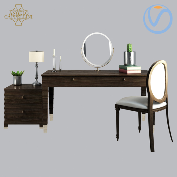 Angelo Cappellini Opera Dressing table Elettra - 3DOcean Item for Sale