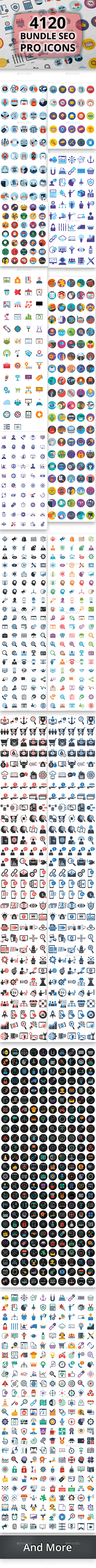 GraphicRiver 4120 Bundle Seo Pro Icons 21151761
