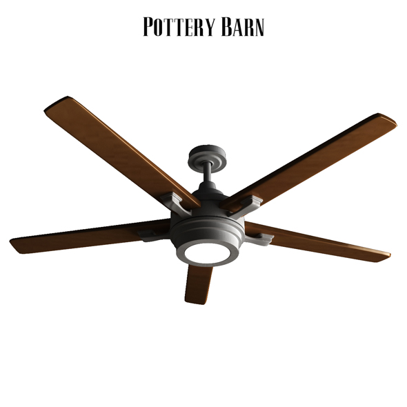 Pottery barn Benito Ceiling Fan Bronze - 3DOcean Item for Sale