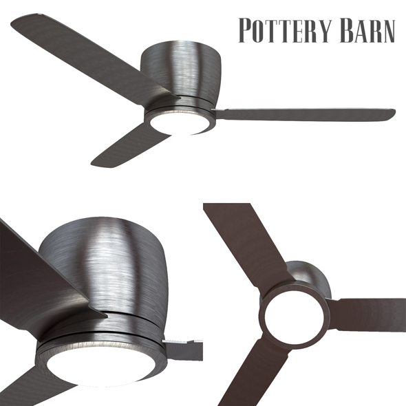 Pottery barn Ceiling Fan Brushed Nickel - 3DOcean Item for Sale