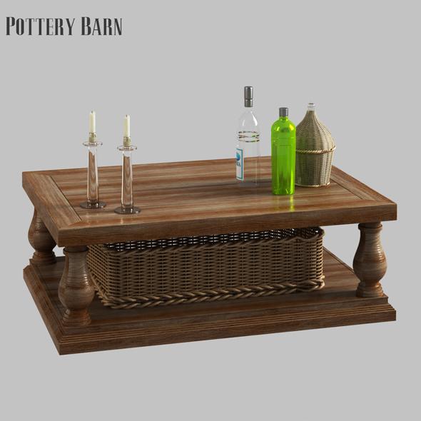3d Model 3docean Lorraine Coffee Table 21151812