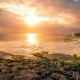 Summer Sunset at the Rock Beach in Nusa Lembongan, Bali, Indonesia - VideoHive Item for Sale