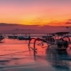Tropical Island Sunset with Traditional Bali Boat in Nusa Lembongan, Indonesia - VideoHive Item for Sale
