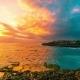 Sunset Sea Waves Break on the Rocks in Island Nusa Lembongan, Bali, Indonesia - VideoHive Item for Sale