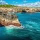 Waves Break Against the Rocks Island Nusa Lembongan, Indonesia - VideoHive Item for Sale