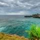 Sea Lagoon in Cloudy Weather at Nusa Ceningan Island, Indonesia