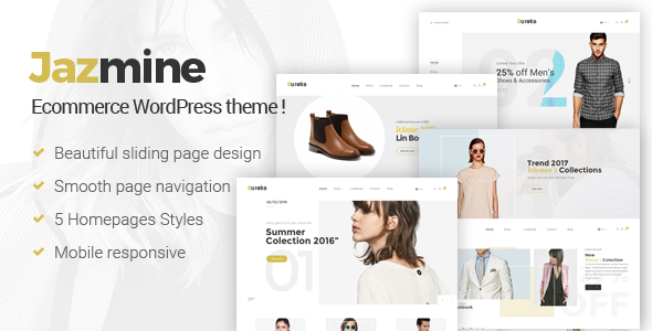 Jazmine - Multipurpose WordPress Theme - WooCommerce eCommerce