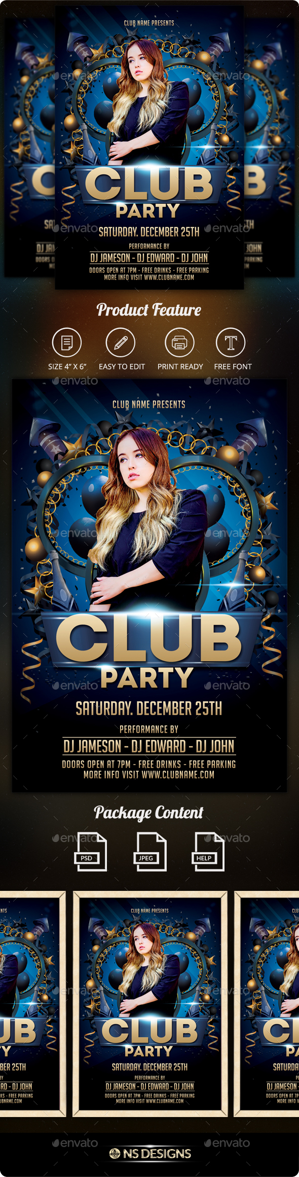 GraphicRiver Club Flyer 21151990