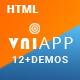 VniApp - Showcase Mobile App HTML Template - ThemeForest Item for Sale