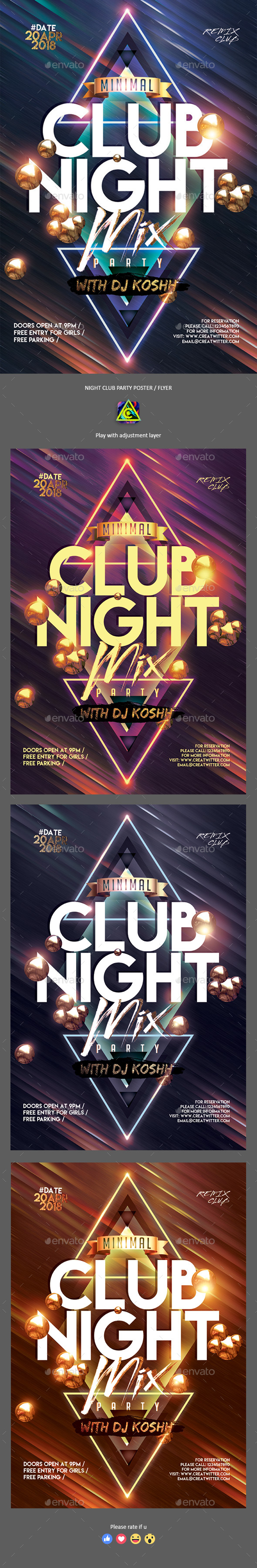 CLub Night Party Poster / Flyer - Clubs & Parties Events