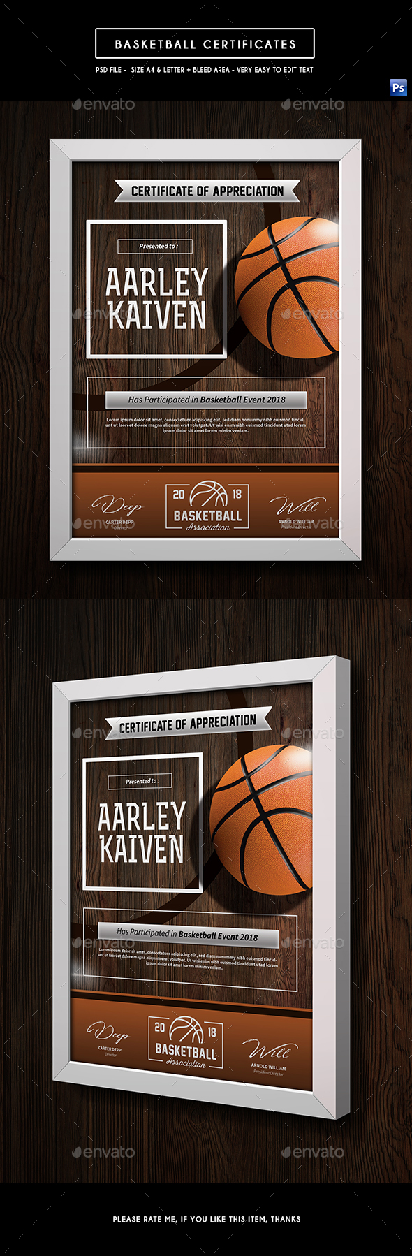 Basketball Certificates - Certificates Stationery