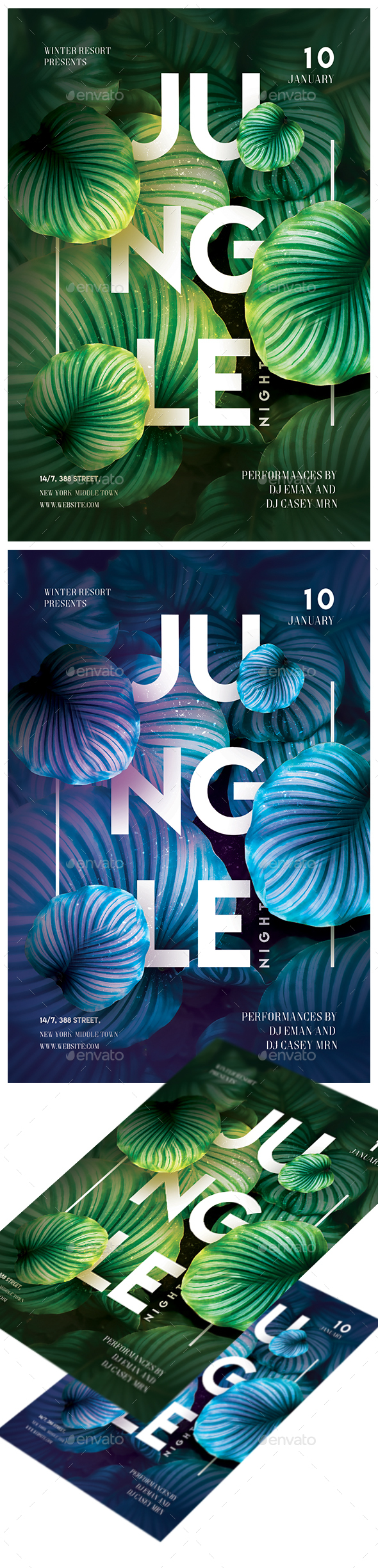 GraphicRiver Jungle NIght Party Flyer 21152468
