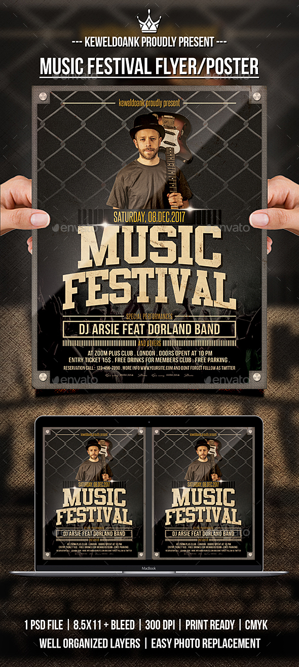 GraphicRiver Muasic Festival Flyer Poster 21152482