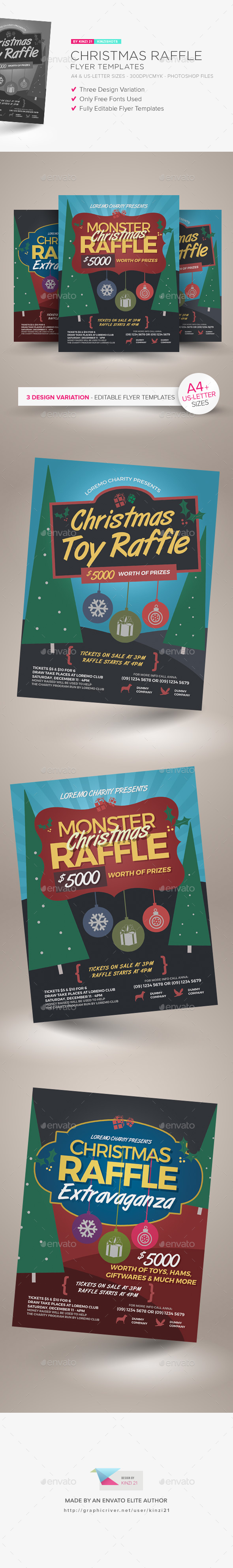 GraphicRiver Christmas Raffle Flyer Templates 21152553