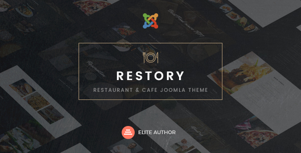 Image of Restory - Restaurant & Cafe Joomla Template