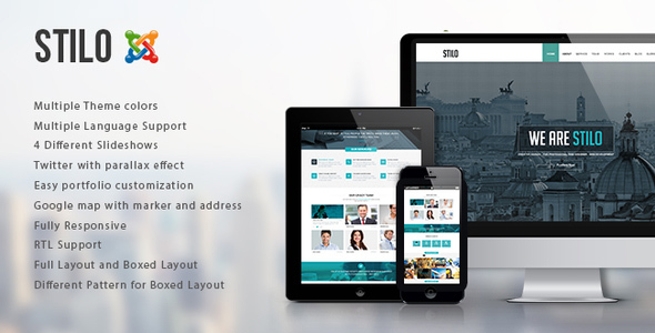 Stilo - One Page Multipurpose Joomla Template