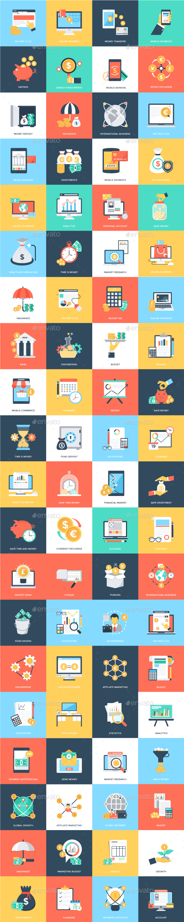 GraphicRiver 80 Finance Vector Icons 21152597
