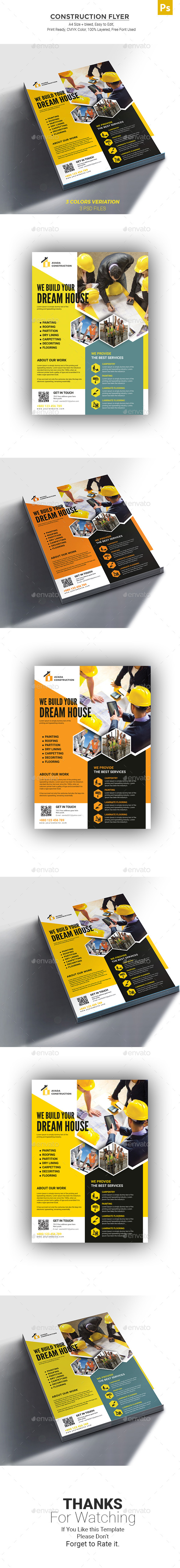 GraphicRiver Construction Flyer 21152607