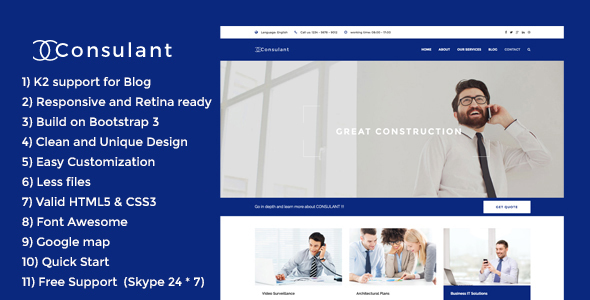 Image of Consulant - Corporate & Business Joomla Template