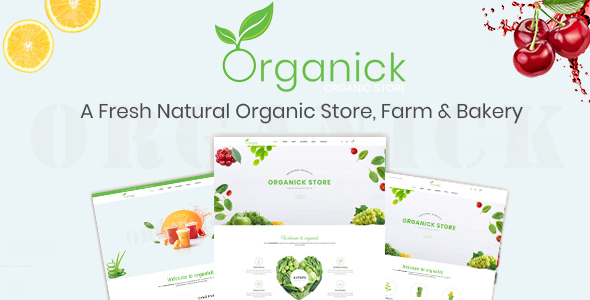 ThemeForest Organick A Fresh Natural Organic Store Farm and Bakery Prestashop Theme V1.6 and V1.7 21152620