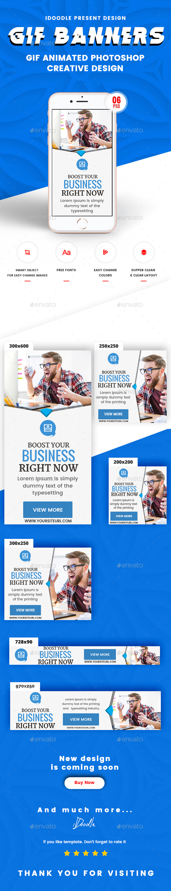 GraphicRiver Animated GIF Multipurpose Business Corporate Banners Ad 21152624