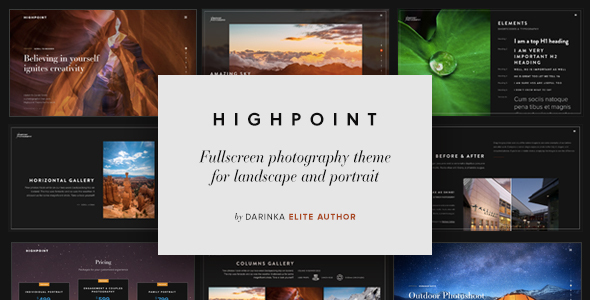 Highpoint - Fullscreen Photography WordPress Theme