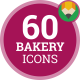 Dessert Eat Cake Sweet Bakery Products Icon Set - Flat Animated Icons