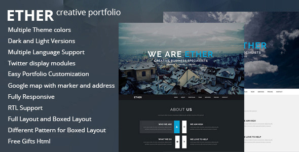 Ether - One Page Joomla Template