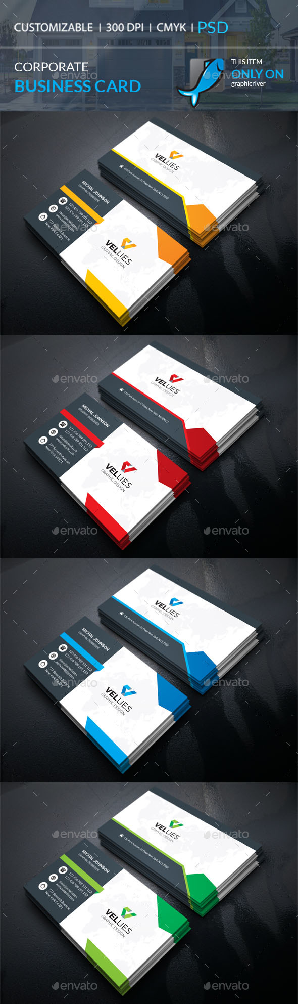 GraphicRiver Corporate Business Card 21152655